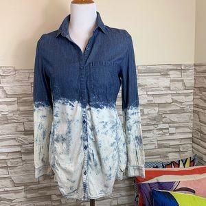 WoW! Denim shirt with dip dye